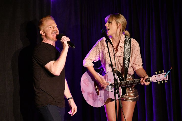 Ferguson (left) introduced Taylor Swift during the pop star's surprise June 14 performance at New York's Stonewall Inn.