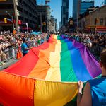 The Rainbow Hues And Famous Faces Of Toronto's Pride