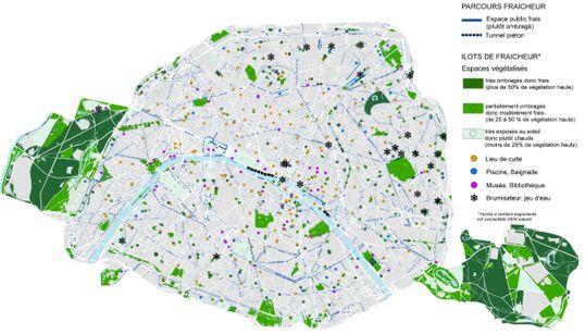 Une carte de Paris pour trouver des