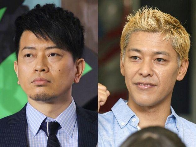 宮迫博之(左)と田村亮