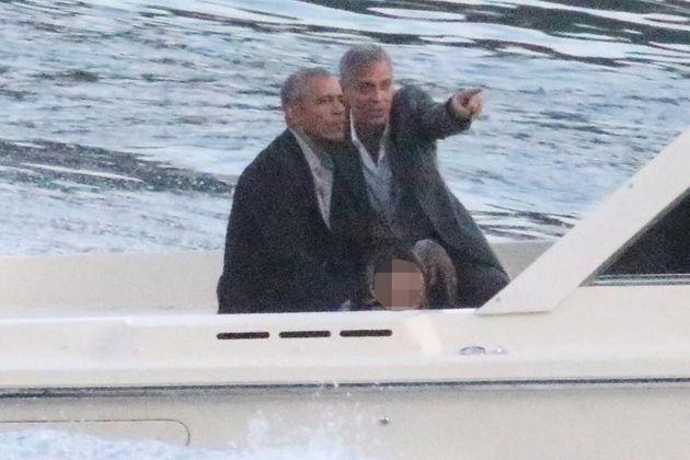 Clooney e Obama in motoscafo sul Lago di Como