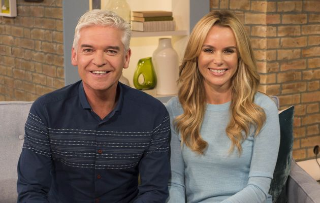 Phillip Schofield and Amanda Holden on This Morning in