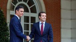 Sánchez y Casado se han reunido este lunes en La