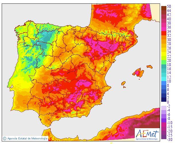 España va a arder: estas son las zonas del país a las que debes ir para escapar del