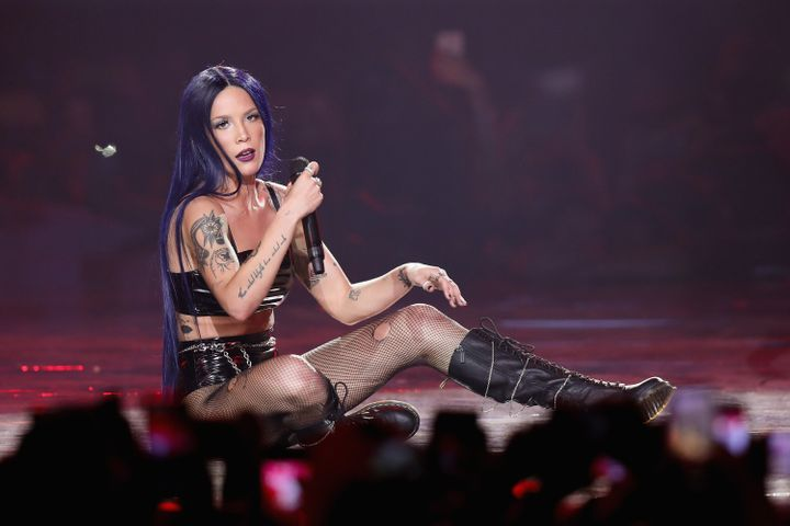 Halsey performs onstage during the MTV MIAW Awards 2019 on June 21 in Mexico City, Mexico.