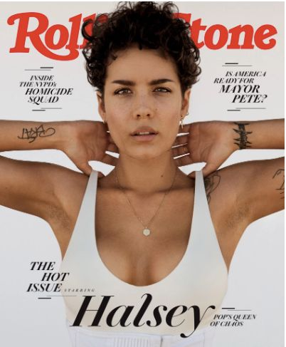 Halsey's cover of Rolling Stone.