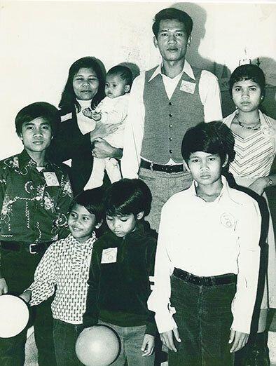 Ma famille et moi, à notre arrivée au Québec, en 1979.