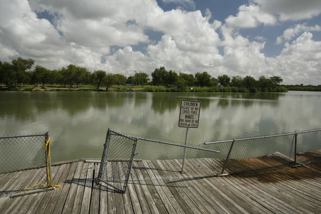 Anzalduas Park along the Rio Grande River in Mission, Texas, is a popular spot for undocumented immigrants...