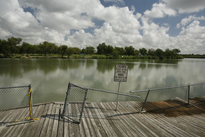 Anzalduas Park along the Rio Grande River in Mission, Texas, is a popular spot for undocumented immigrants to cross from Mexi