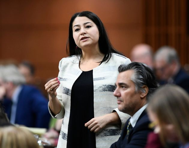Gender Equality Minister Maryam Monsef rises in the House of Commons on Parliament Hill in Ottawa on...