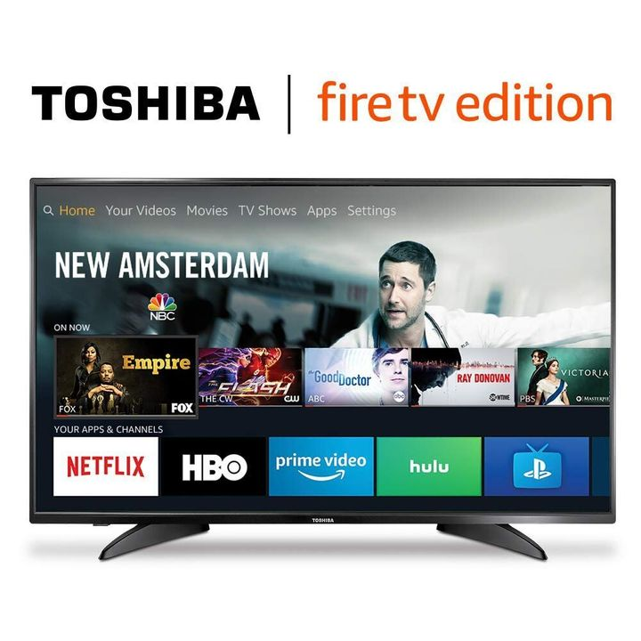 "One of Amazon Prime Day 2019's best TV deals is this 43-inch Toshiba HD Fire TV Edition Smart TV that's on sale for only $180. <a href=""https://www.amazon.com/Toshiba-43LF621U19-43-inch-Ultra-Smart/dp/B07FPSBZQB?tag=thehuffingtop-20"" target=""_blank"" rel=""noopener noreferrer"">I<strong>t's an early Amazon Prime deal that you can shop now</strong></a>."
