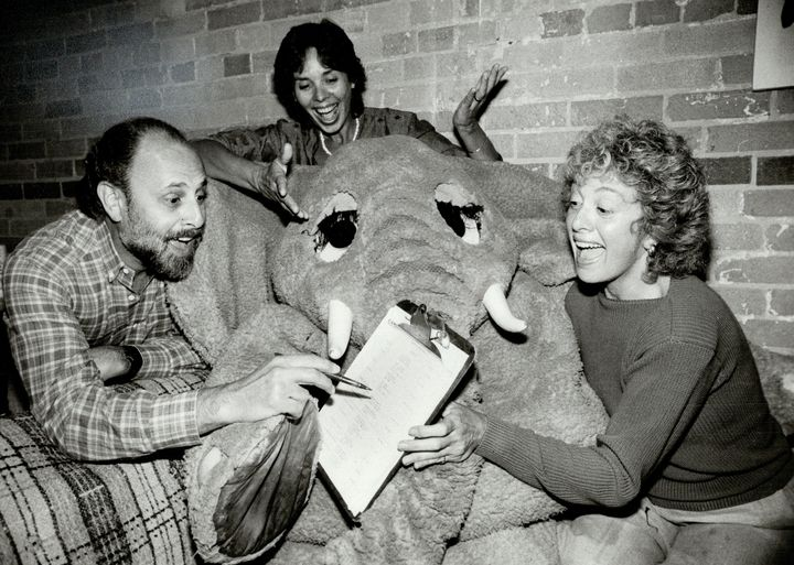 Bram Morrison, Sharon Hampson and Lois Lilienstein of Sharon, Lois and Bram in the early 1980s.