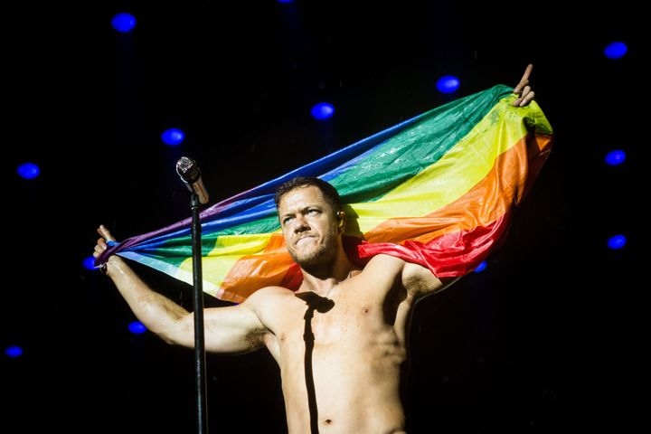 """Homophobia has """"affected not just my closest friends growing up, but also my family,"""" Imagine Dragons frontman Da"""