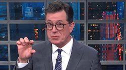 Cock And Awe: Colbert Mocks Trump's 'Tiny Little Mushroom Cloud'