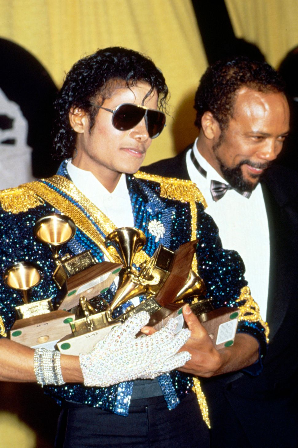Jackson with Quincy Jones at the 1984 Grammy Awards