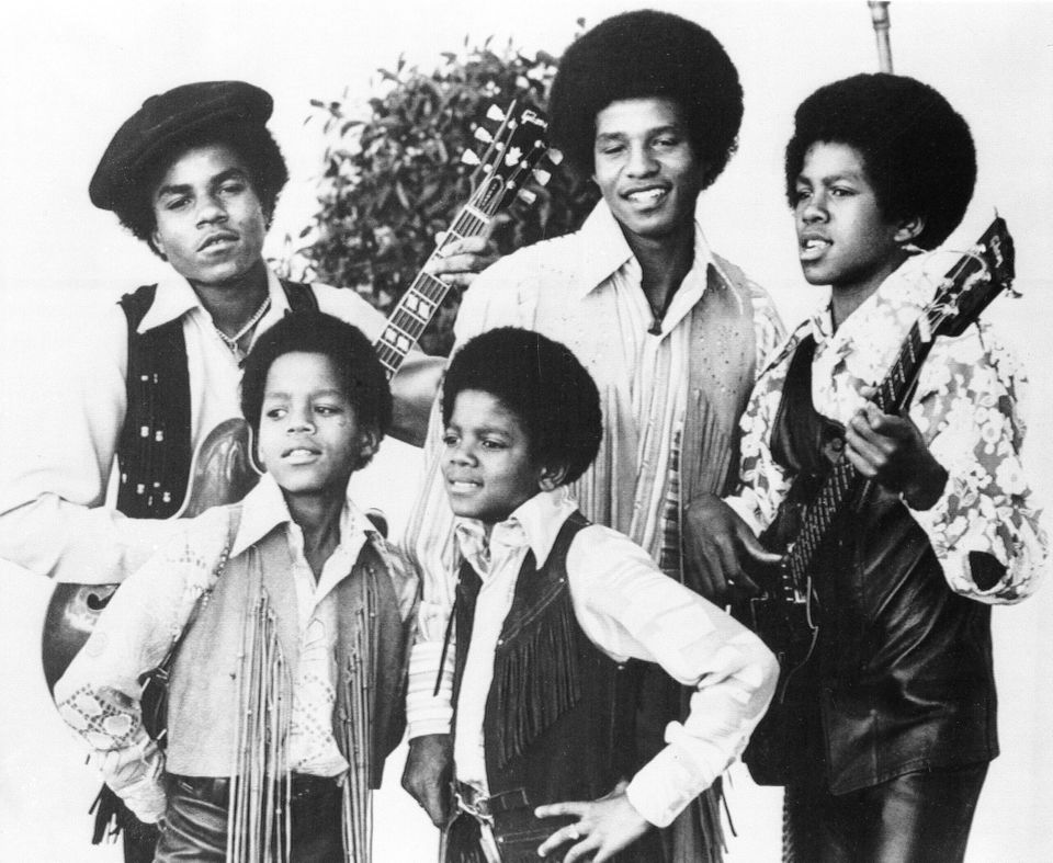 The Jackson Five; Michael, front right, is 10 years old in this picture. With him are his brothers,...