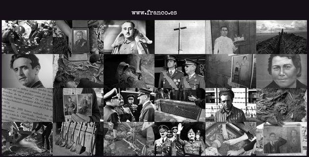 Portada de la web 'Franco.es', de la