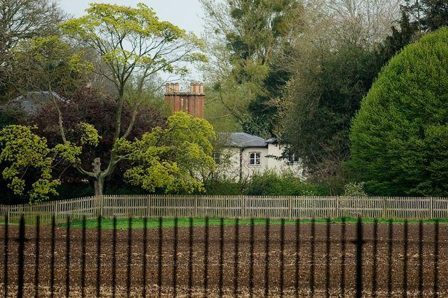 Vue du cottage de Frogmore, pendant la