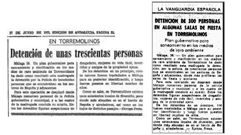 Artículos publicados tras La Redada en 'ABC' y 'La Vanguardia