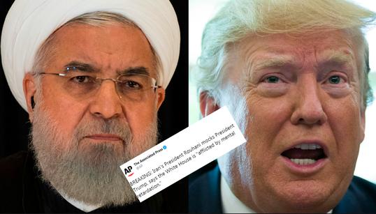 """Le président iranien estime que Trump """"souffre d'un retard"""