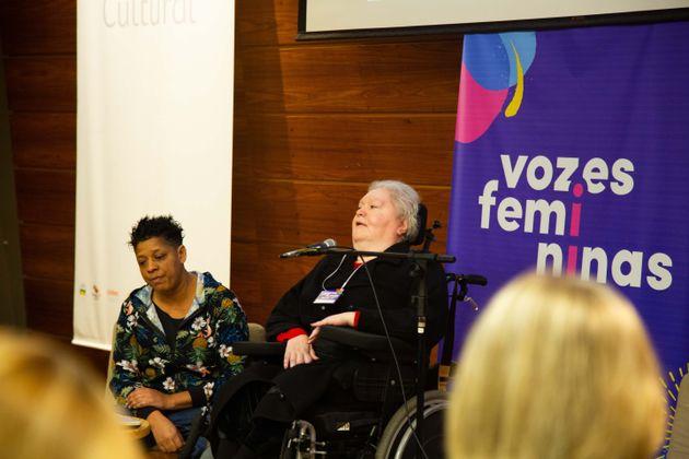 Ana Rita de Paula, na cadeira de rodas, é uma das principais porta-vozes da luta de pessoas com...