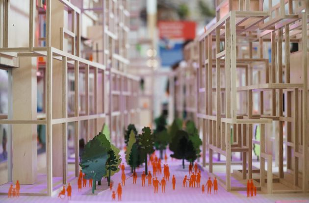 A picture of Sidewalk Labs' conceptual scale model of Toronto's Quayside development, released June 24,...