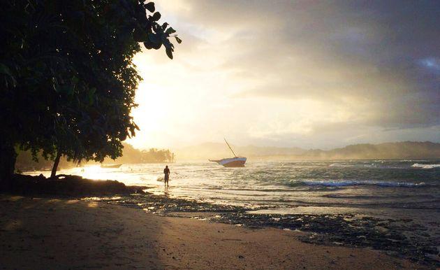 Fin de journée sur la mer des Caraïbes, à deux pas de notre