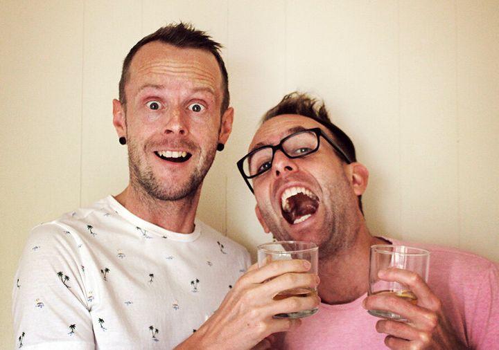 Nelson (à gauche) et Martin.