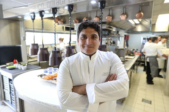 Mauro Colagreco, le chef trois fois étoilé au guide Michelin du restaurant Le Mirazur.