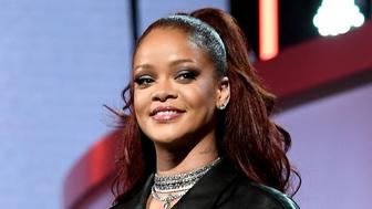LOS ANGELES, CALIFORNIA - JUNE 23: Rihanna speaks onstage at the 2019 BET Awards at Microsoft Theater on June 23, 2019 in Los Angeles, California. (Photo by Paras Griffin/VMN19/Getty Images for BET)