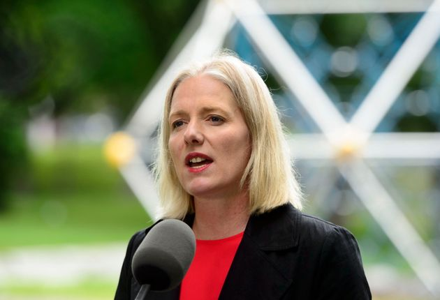 Environment Minister Catherine McKenna speaks in Ottawa on June 25,