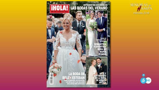 Así fue el vestido de novia de Belén Esteban: 'Sálvame' adelanta la portada de