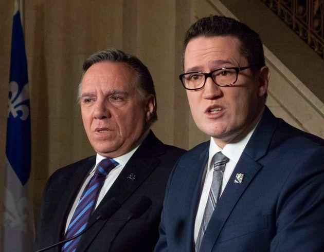 Le premier ministre du Québec, François Legault, et son ministre de l'Environnement, Benoit