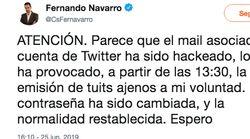 Un exdiputado de Ciudadanos denuncia que le han 'hackeado' tras compartir una imagen