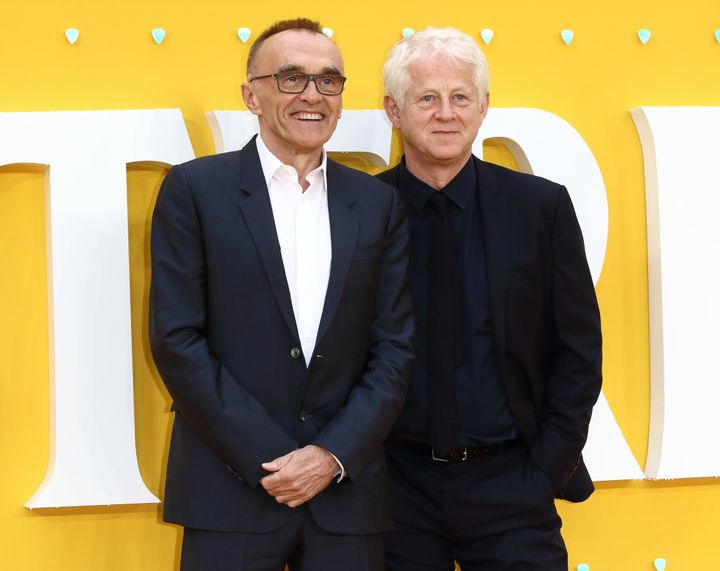 "Director Danny Boyle and screenwriter Richard Curtis at the London premiere of ""Yesterday."""