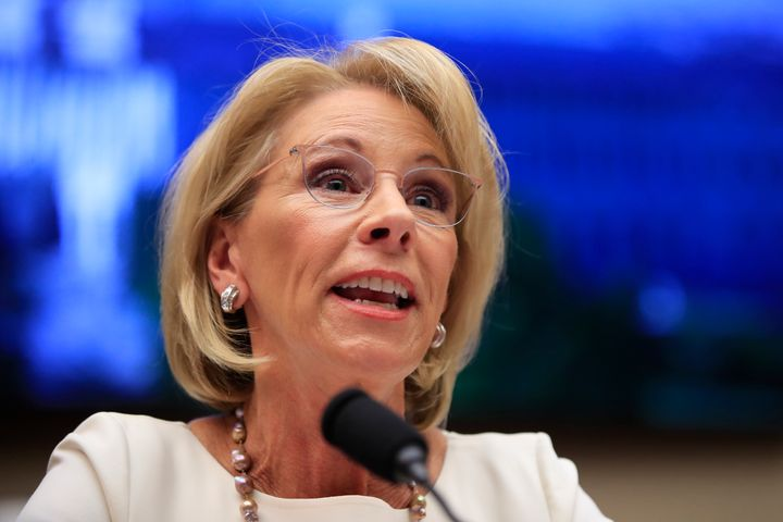 Education Secretary Betsy DeVos is being sued by more than 158,000 former for-profit college students.