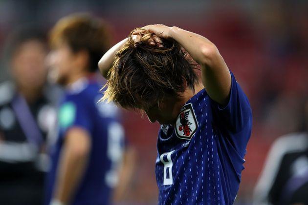 落胆した表情を見せる岩渕選手