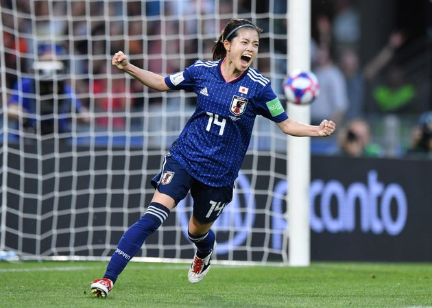 ゴールを決めた長谷川選手