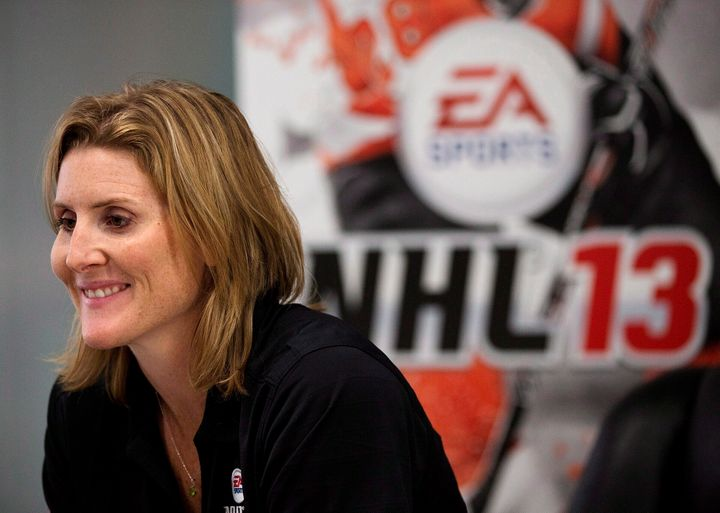 "Hayley Wickenheiser pictured promoting her appearance in ""NHL 13."""