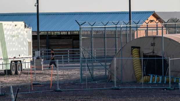 A temporary facility set up to hold immigrants is pictured at a US Border Patrol Station in Clint, Texas, on June 21, 2019. - Lawyers who were able to tour the facility under the Flores Settlement, which governs detention conditions for migrant children, said they witnessed inhumane conditions of overcrowding, and about 250 children being held over the limit of 72 hours, some saying they were there for weeks in overcrowded cells. (Photo by Paul Ratje / AFP)        (Photo credit should read PAUL RATJE/AFP/Getty Images)
