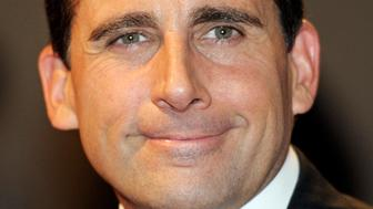 """FILE - In this Nov. 9, 2010 file photo, actor Steve Carell arrives at the Kennedy Center for the Mark Twain Prize for Humor show in Washington.  NBC said Friday, Jan. 14, 2011, that Carell will leave """"The Office,"""" with four episodes left in the season. (AP Photo/Cliff Owen, file)"""