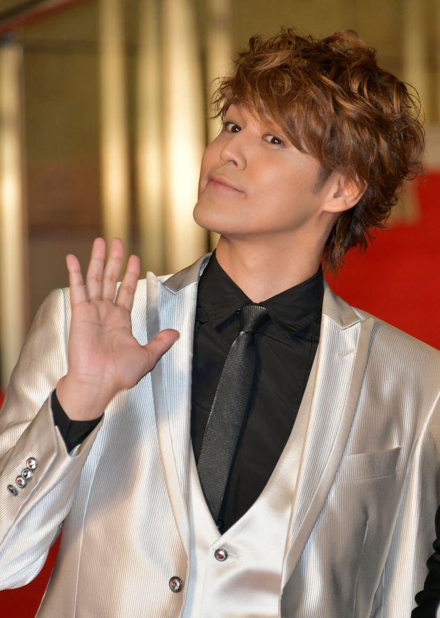 第31回東京国際映画祭のレッドカーペットに登場した声優の宮野真守さん(2018年10月25日撮影)