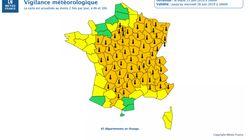 Canicule: 12 départements supplémentaires en vigilance orange, 65 au