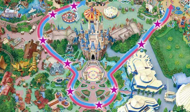 東京ディズニーランドのパレードルート