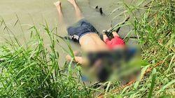 멕시코 국경에서 함께 익사한 아빠와 아기의 시신이