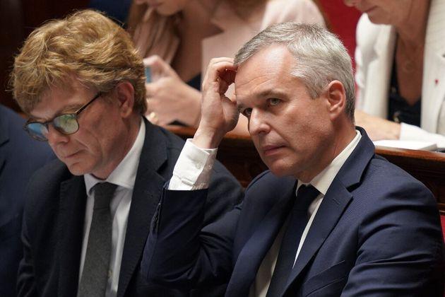François de Rugy, ministre de la Transition écologique, à l'Assemblée nationale...