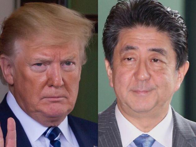 トランプ大統領(左)と安倍首相(右)