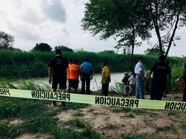 Près de l'endroit où les corps deOscar Martinez Ramirez et de sa fille ont été...