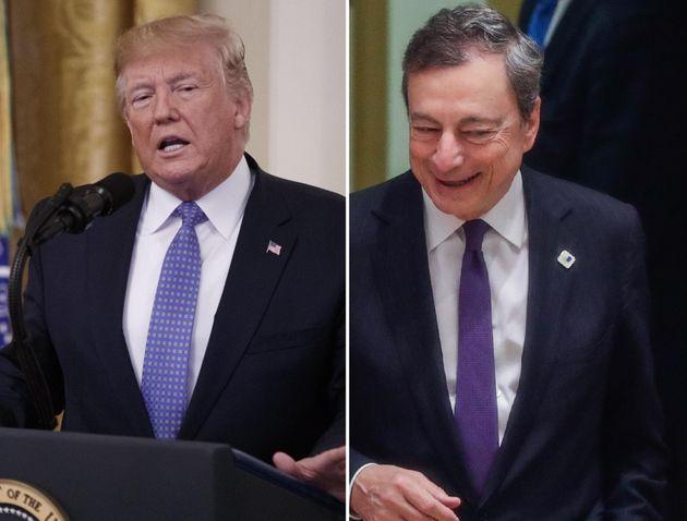 """Donald Trump vorrebbe Mario Draghi alla Fed: """"Altro che"""