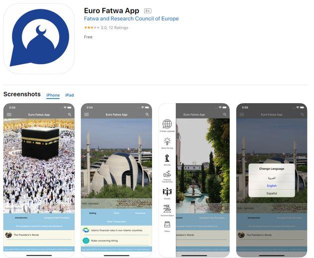 L'application Eurofatwa en téléchargement sur l'App